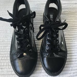 BCBG clear sneakers